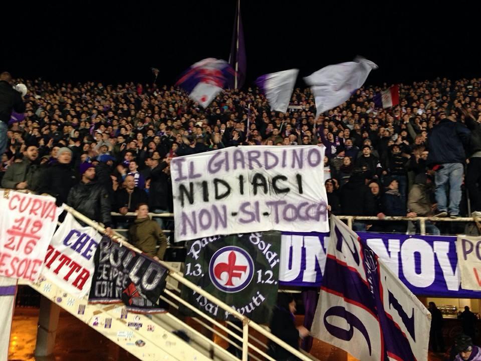 Fiorentina football fans for Nidiaci