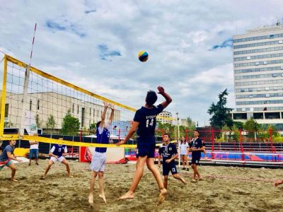 Beach volley in the city centre