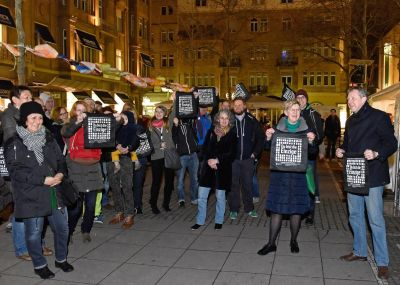 Action Earth Hour 2015 - Topic of the event: Waste; Source: City of Mannheim