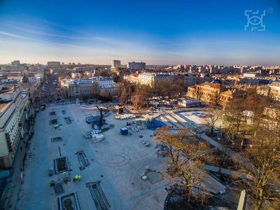 Lithuanian Square - during the modernization
