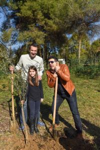 Famous Albanian Comedian donating a Tree