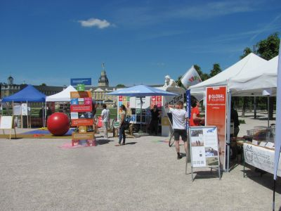 Presentation and information stalls of different groups on