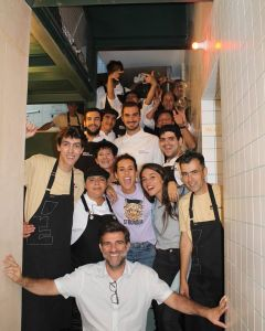 Trainees and Technical team at Restaurant opening day @CRESCER