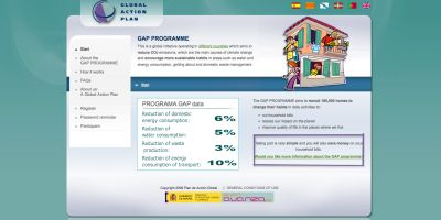 GAP Spain / Home page of web platform for the households
