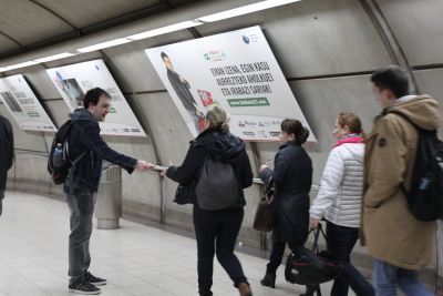 Communication campaign in the Bilbao metro