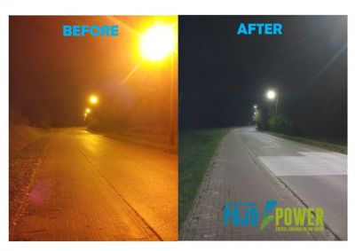 Before and after relighting